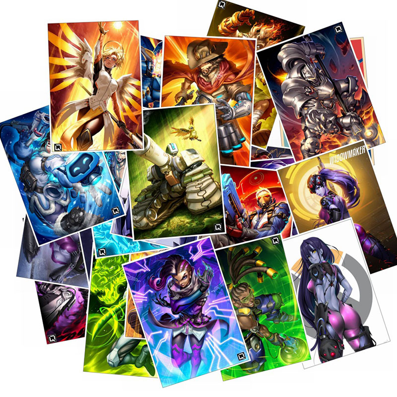 25Pcs School Sticky Notes Papelaria Game Overwatch Black Lily Stationery Sticker Waterproof 4