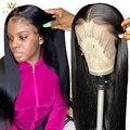 30 дюймов с прямыми Синтетические волосы на кружеве парик короткие 4x4 закрытие парик бразильский длинные Синтетические волосы на кружеве al п...