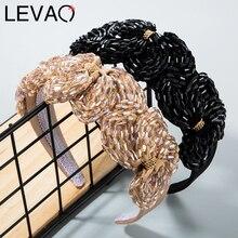 LEVAO China Crystal Hairbands Novelty Head Hoop Bezel Turban