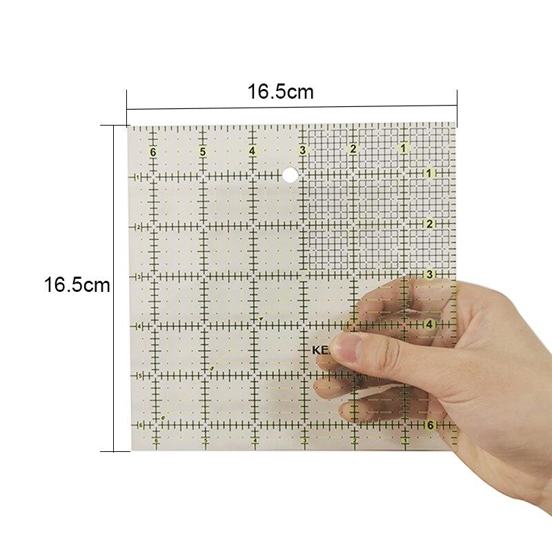 1 Pcs Square Ruler DIY Hand Sewing Tool Design Cutting Patchwork Ruler Template Tool Tailoring Professional Ruler
