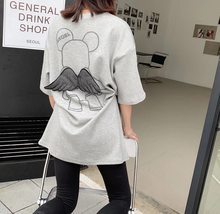 T-shirt female 2021 new student Korean version of loose cotton 100% summer short-sleeved cute black gray wild net red tees