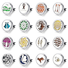 Diffuser Jewelry Flower Butterfly Air Freshener Stainless Vent Essential Oil Car Clip Aromatherapy Pendants