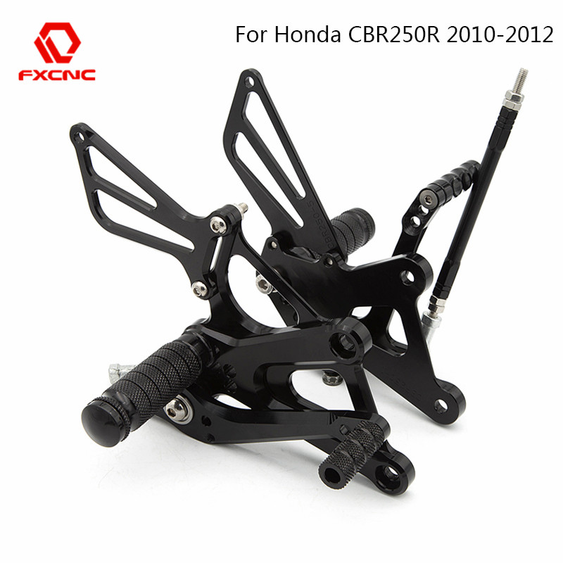 FOR Honda CBR250R Cbr 250r 2010 2011 2012 CNC Aluminum Adjustable Motorcycle Rearset Rear Set Foot Peg Pedal Footrest