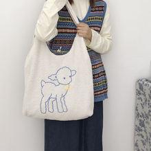 Женская вместительная сумка для покупок на плечо модная зимняя