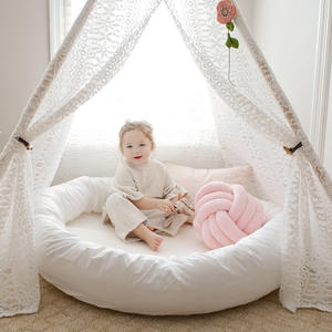 Play-Mat Cushion Canopy Lounger Nursery Round Babyrede Infant for Toddlers Bed-Safe Sleeping-Nest
