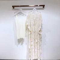 Bohemian Embroidery Dresses Women 2020 Summer Hot Holiday Style Deep V neck Tassels Loose Long Dress