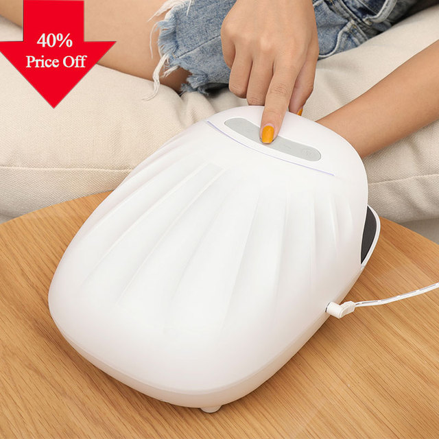 Masajeador de manos eléctrico herramientas de cuidado de manos acupresión adormecimiento dedo Spa Oficina hogar alivio del dolor envío gratis ROCROC blanca