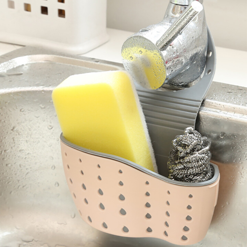 Sink-Shelf Drain-Rack Soap Bathroom-Holder Sponge Kitchen-Organizer Wash Suction-Cup title=
