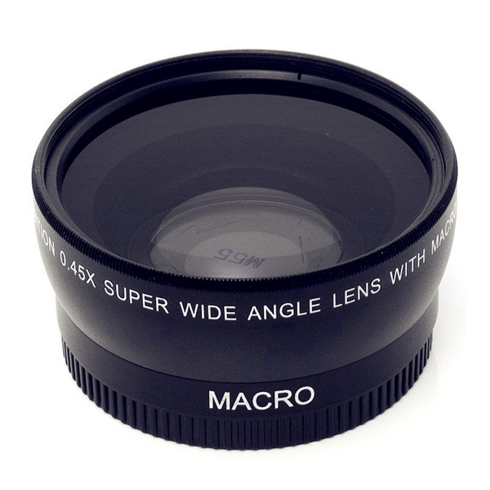 Wide-Angle Lens With Macro Optical Glass Lenses 0.45X 46 49 52 55 58 mm Lens Accessory High Definition