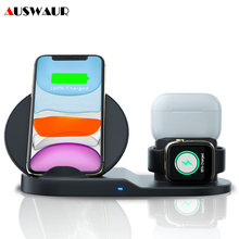 3 IN 1 QI Wireless Charger for iPhone 11 PRO Max Apple Watch iWatch 1 2 3 4 5 Airpods Pro 10W Fast Wirelss Charger