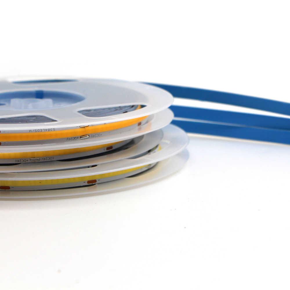 Adjustable Color 5M COB FOB LED Flexible Strip Light Ribbon Linear High Density