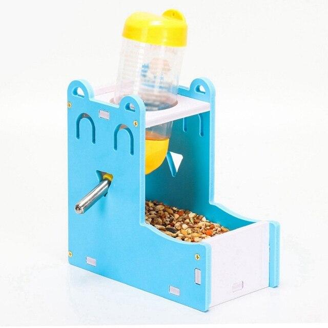 Small Pet Water Bottle Holder Hamster Rabbit Food Feeder Dispenser Nest Toy Drinking Water Distributor For Hamster Rabbit 1