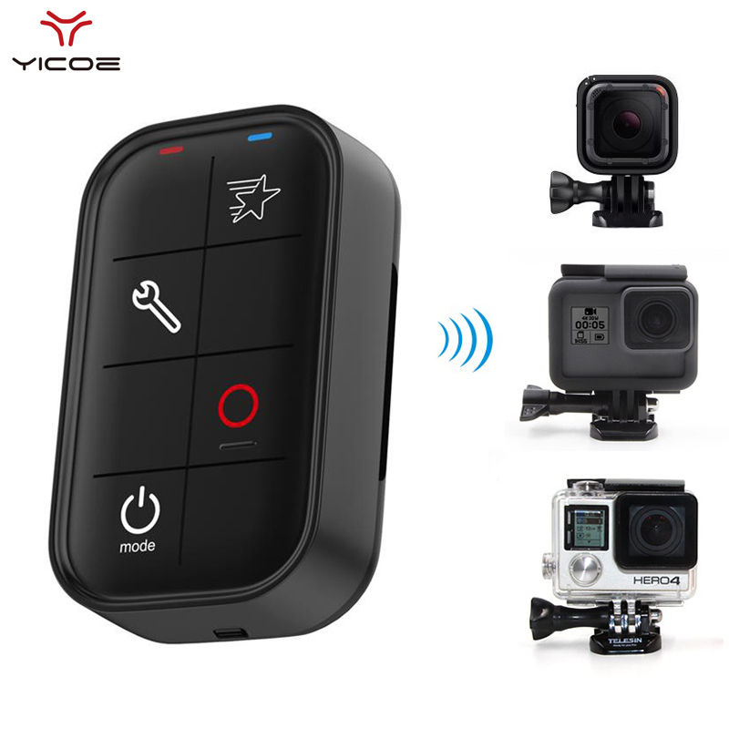 Go Pro <font><b>Smart</b></font> WiFi <font><b>Remote</b></font> Control For <font><b>Gopro</b></font> <font><b>Hero</b></font> 7/<font><b>6</b></font>/5/4/3 Accessories Waterproof Controller With Charging Cable image