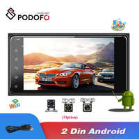 Podofo Android 2din Car Multimedia Player Universal auto Stereo GPS/Wifi/FM/Mirrorlink/USB/Bluetooth 2.5D Touch Screen Car Radio