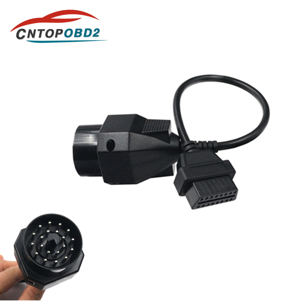 OBD OBD II Adapter for <font><b>BMW</b></font> Connector 20 pin to 16 PIN Female OBD2 Car <font><b>Diagnostic</b></font> Cable for e46 <font><b>e39</b></font> e90 e60 f30 e36 X6 X5 Z3 image