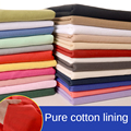 Plain Pure Cotton Fabric 100% Kids Lining By The Meter Per for Clothes Dress Skirt Lined Sewing DIY Brocade White Black Blue Red