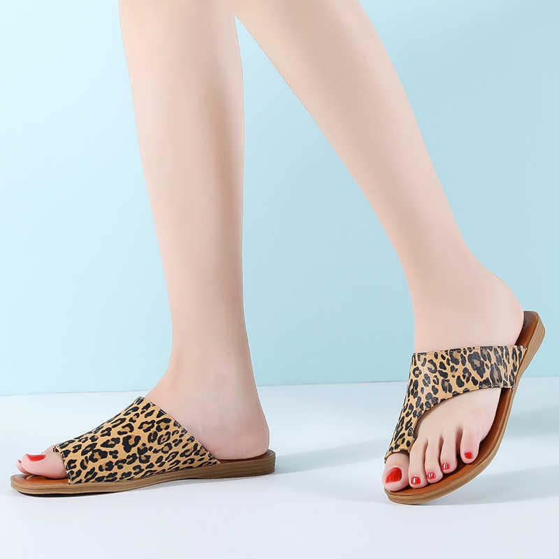 LAASIMI 2020 yaz kadın terlik Bunion sandalet rahat düz bağcıksız ayakkabı kadın Flip flop kadın slaytlar ortopedik düzeltici