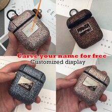 10 Stks/partij Bling Shiny Sequin Case Voor Airpods 1 2 Cover Nobele Glitter Meisje Bluetooth Draadloze Oortelefoon Beschermhoes CKHB 10P