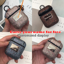 10pcs/lot Bling Shiny Sequin Case For Airpods 1 2 Cover Noble Glitter Girl Bluetooth Wireless Earphone Protective Case Fran 10P
