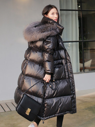 Women's New 2020 Down Jacket Winter Warm Coat Women Raccoon Fur Collar Korean Duck Down Puffy Jacket Chaquetas Mujer