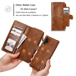 Image 2 - Luxury Multifunction Detached Wallet case For Samsung S20 Ultra Leather Flip Cover S8 S9 S10 E 5G Note 8 9 10 Plus Phone bag