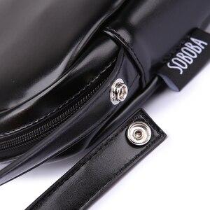 Image 5 - Классическая черная сумка для подгузников для мамы, водонепроницаемая Портативная сумка для подгузников из искусственной кожи, стильная сумка для смены большой емкости для ребенка
