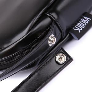 Image 5 - Bolso de pañales clásico negro para madre, impermeable, portátil, de PU, elegante, de gran capacidad, para bebé