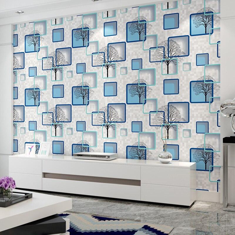 Moderne minimaliste 3D abstrait cadre photo arbre branche papier peint chambre tête de lit papiers peints décor à la maison Papel Tapiz