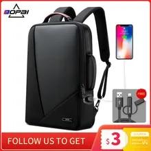 Laptop Bagpack Computer-Bag BOPAI Elegant Anti-Theft Waterproof Men's Women Increased-Capacity