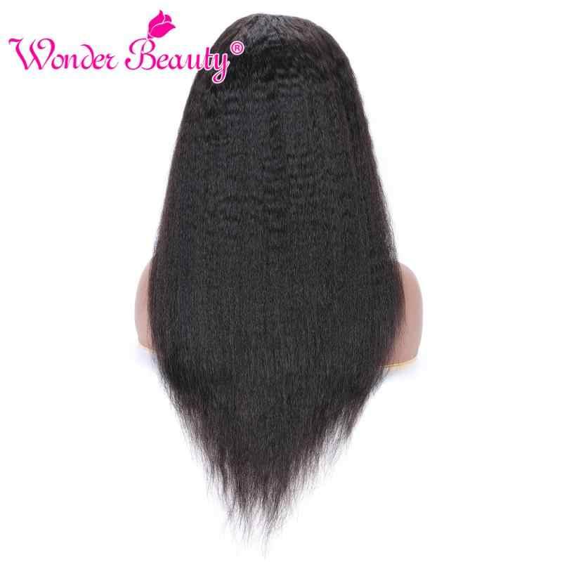 Peruki z włosami kręconymi i prostymi 150 gęstości peruki z ludzkich włosów Natural Black Wonder Beauty brazylijski Remy włosy 13*4 koronkowe peruki z przodu Huamn