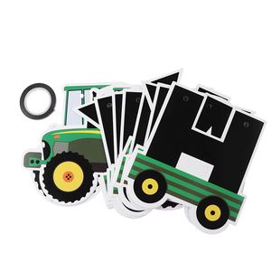 Image 5 - Tractor Birthday Banner Hanging Banners Ornaments Garland Bunting Pendant For Kids Birthday Party Favors Supplies Decorations