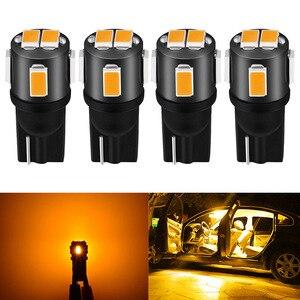 4 шт., Автомобильные светодиодные лампы T10 W5W 194 168 5630SMD, 12 В