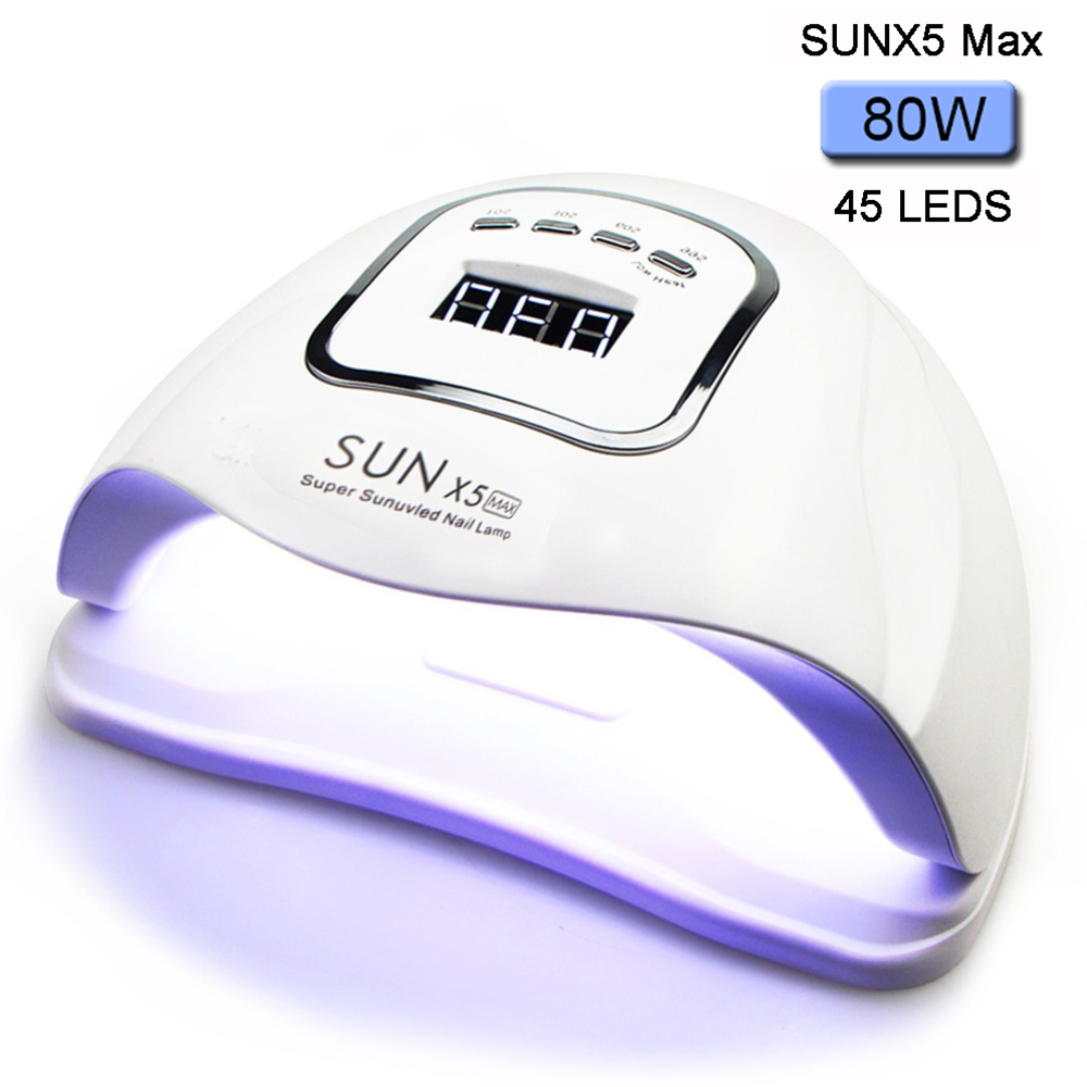 UV Lamp For Nail 80W SUNX5Max LED Nail Dryer For Manicure Curing All Gel Polish Nail Lamp 45 Pcs Led 30s/60s/90s Auto Sensor