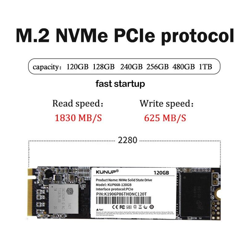 KUNUP PCIe NVME 128GB 256GB 1TB  M.2 Ssd M2 240gb Solid State Drive 2280 Internal Hard Disk Hdd For Laptop Desktop MSI Asrock