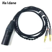 Haldane HIFI 4 pin XLR Male Balanced Headphone Upgrade Cable for Sundara Aventho focal elegia t1 t5p D7200 D600 D7100 MDR Z7