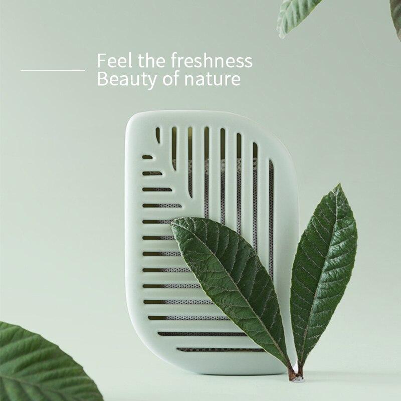 Green Leaf Home Shape Fridge Refrigerator Air Fresh Box Purifier Charcoal Deodorizer Absorber Freshener Eliminate Odors Smell