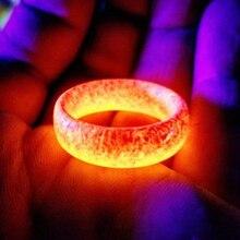 Lateefah, модное кольцо из смолы, светящееся кольцо в стиле панк, светящееся в темноте, обручальное кольцо, флуоресцентные кольца для женщин, ювелирные изделия для мужчин, подарок