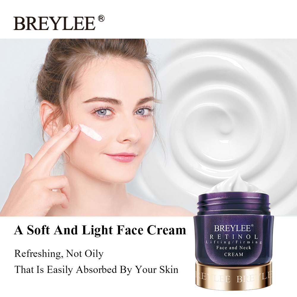 BREYLEE Retinol Firming Face Cream Lifting Neck Anti-Aging Removing Wrinkles Night Day Moisturizer Whitening Face Skin Care 40g 4