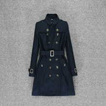 Trench coat women's middle and long style British spring 202