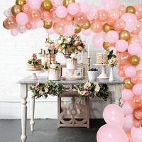 140Pcs Pink, Rose Gold & Confetti Balloons, Golden Ballons for Birthday DIY Balloon Garland Kit & Balloon Arch Party Supplies