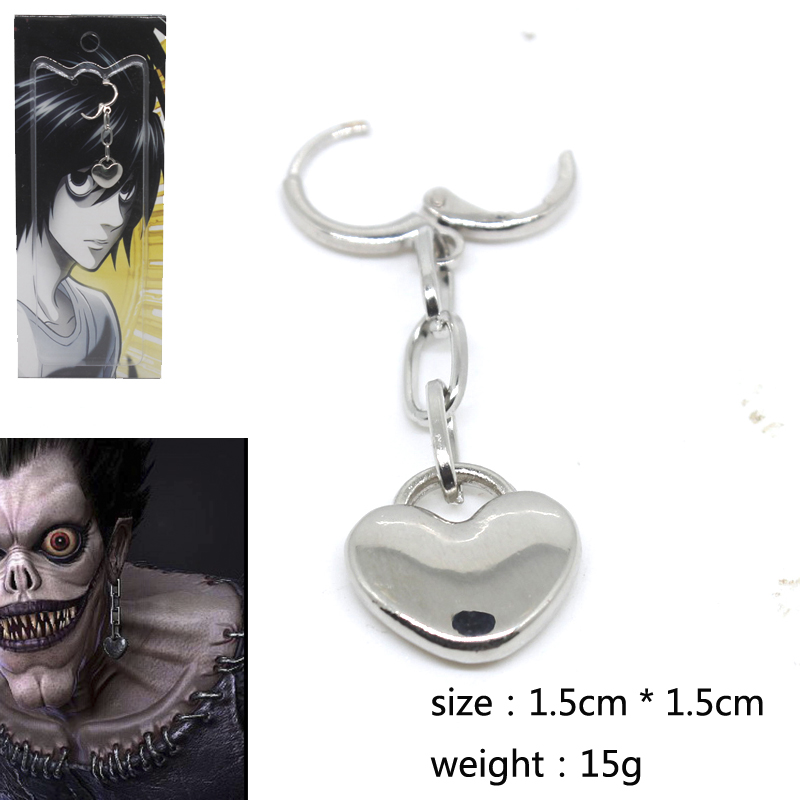 Japan Anime Death Note Ryuk Earring Cosplay 1:1 Prop Accessories Alloy Non-Mainstream Earrings Fashion Jewelry Collection Gift