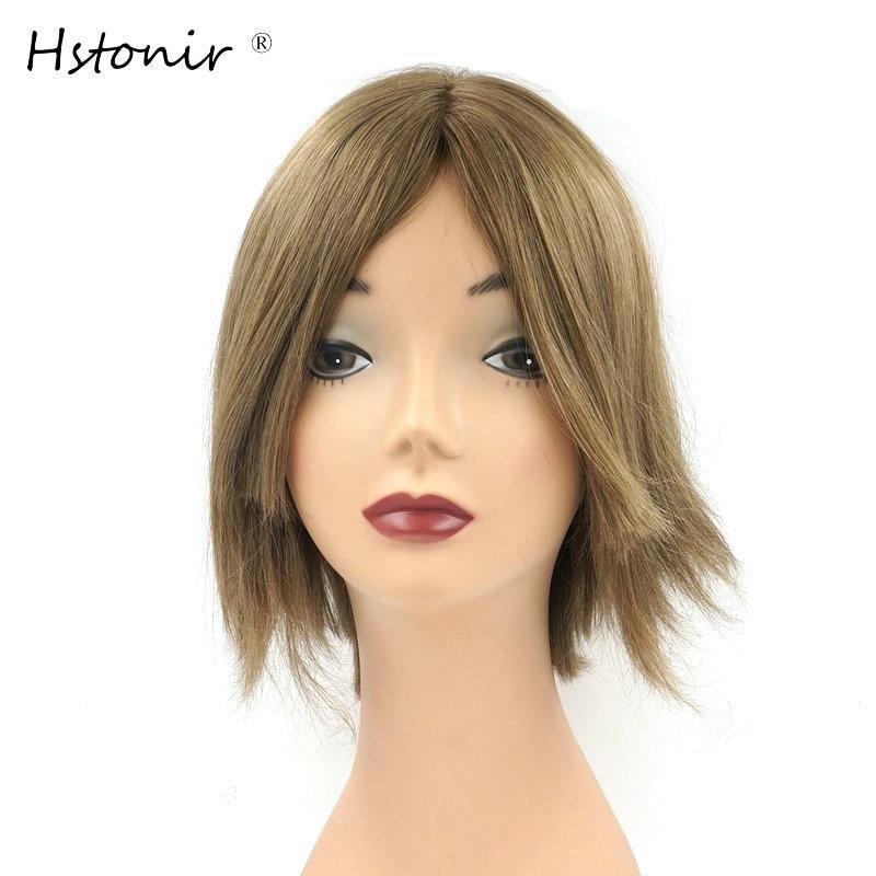 Hstonir Certificate Kosher Hair Wig European Remy Hair Silk Top Kosher Sheitel Bob Style Customized Order