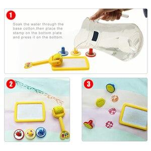 Image 4 - 120*90cm Funny Magic Water Drawing kolorowanka Doodle Mat z 4 magiczny długopis malowanie tablica do pisania dla dzieci zabawki urodziny prezent
