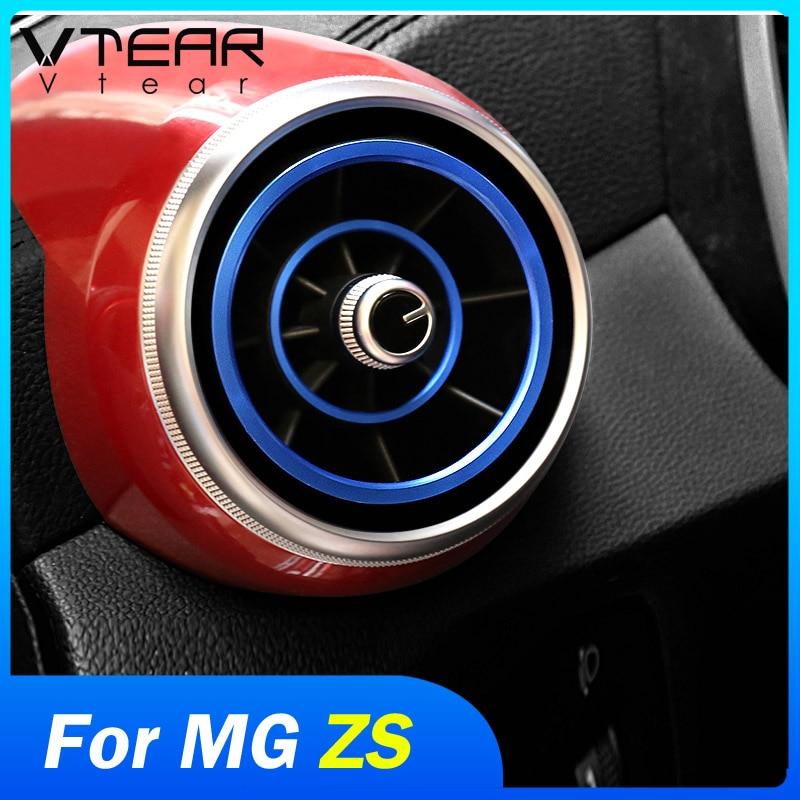 Vdéchirer – couvercle de sortie d'air pour MG ZS, pièces intérieures de style de voiture, moulures circulaires, garniture de cadre en chrome AC, accessoires de décoration automobile