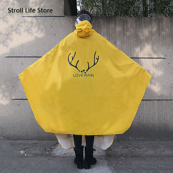 Yellow Raincoat Women Electric Bike Poncho Cute Korean Long Motorcycle Rain Coat Windbreaker Men Jacket Capa De Chuva Gift Ideas