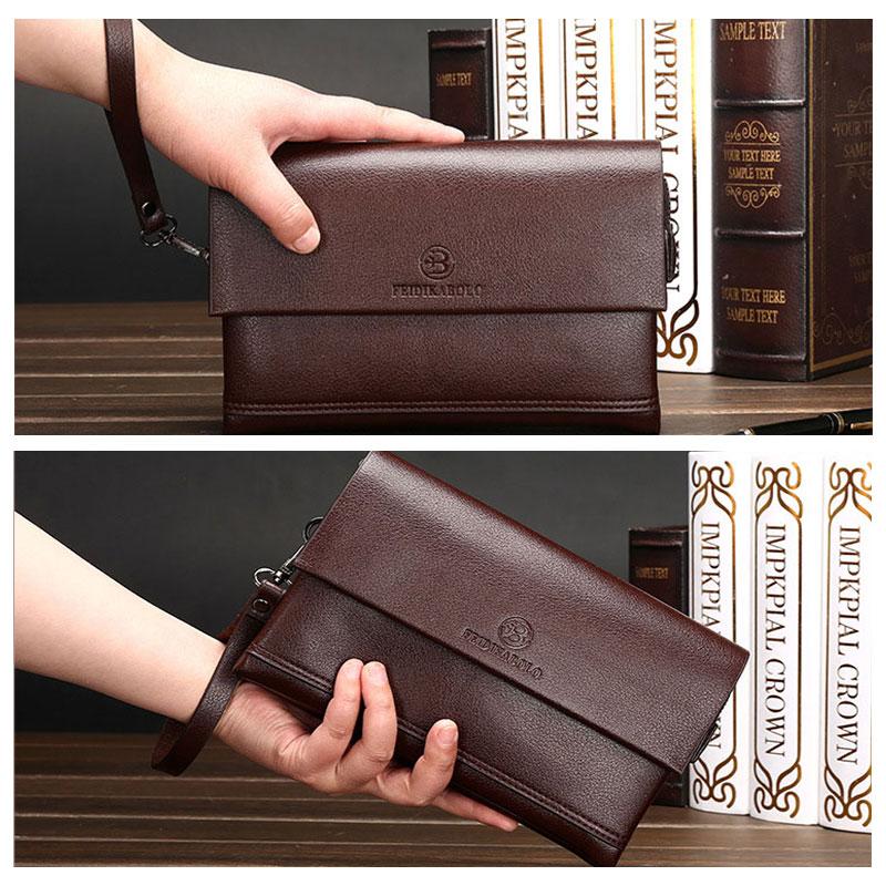 Genuine Leather Business Clutch Bag Men's Wallet Men Men's Bags Men's Wallets