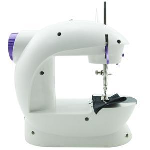 Image 5 - Mini máquina de coser eléctrica manual máquina a pedales para coser ajuste de velocidad rosca doble máquina de coser eléctrica multifunción
