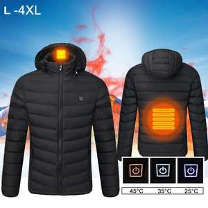 Coat Winter Heated-Jackets Outdoor L-4XL Warming-Clothes Electric-Battery Intelligent