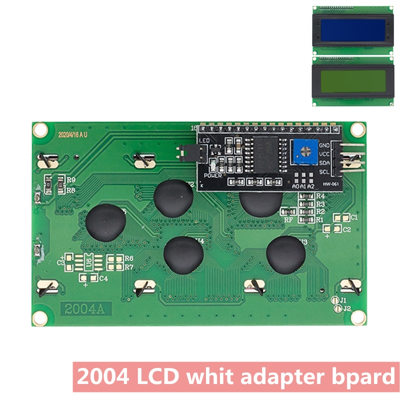 ЖК дисплей 2004 + I2C 2004 20x4 2004A синий/зеленый экран HD44780 символьный ЖК дисплей/w IIC/I2C последовательный интерфейс модуль адаптера для arduino|lcd lcd|module i2clcd hd44780 | АлиЭкспресс