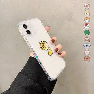 Image 3 - SoCouple śliczne zwierzę żyrafa jasne etui na telefony dla iPhone 11 12 Pro Max X XS XR 12 Mini 7 8 Plus SE przezroczysty miękki TPU okładka